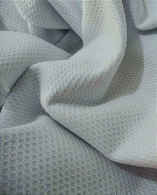 Tecido Piquet Pequeno Favinho Branco - 100 % algodão - Preço de 50cm x 150cm