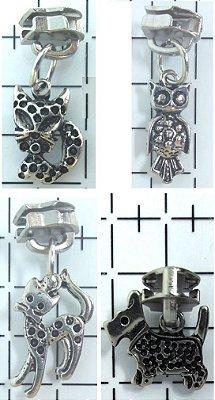Cursor e Pingente de Metal para Zíper - nº 5 - Prateado