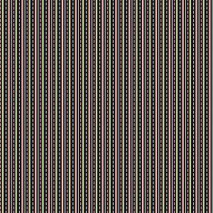 Tecido Tricoline LIstrada com Pesponto Preto  - Coleção Jardim das Flores - 50 cm x 150 cm