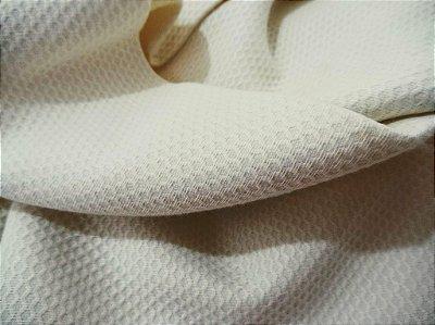 Tecido Piquet Pequeno Favinho Bege - 100 % algodão - Preço de 50cm x 150cm