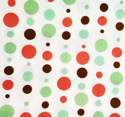 Tecido Tricoline Estampa Bolas Coloridas - Verde e Vermelha - Corte Mínimo 50cm x 150cm
