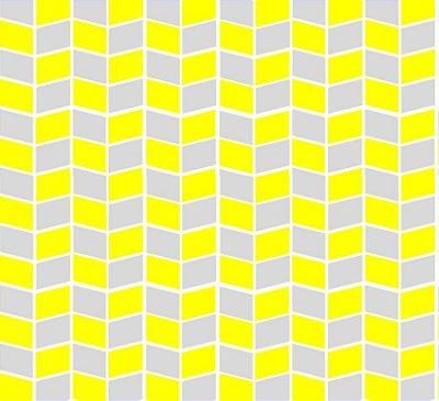 Tecido Tricoline Estampa Flag (Cinza e Amarelo) - Corte Mínimo 50cm x 150cm