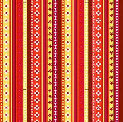 Tecido Tricoline Estampa Listrada - Coleção Los Andes - Tons de Marrom - 50cm x 150cm