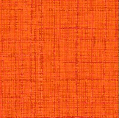 Tecido Tricoline Textura Riscada Laranja - Coleção Neutro Tom Tom (50 cm x 150 cm)