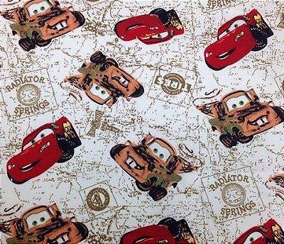Tecidos Tricoline Estampa Infantil Carros Disney - Corte Mínimo de 50cm x 150cm