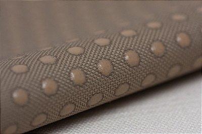 Tecido Emborrachado e Antiderrapante para Solados e Afins - Cor Caramelo - 50cm x 50cm