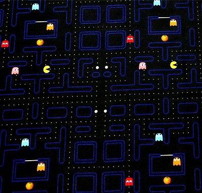 Tecido Estampa Infantil - Pac Man - 100% Poliéster - (45cm x 50cm)