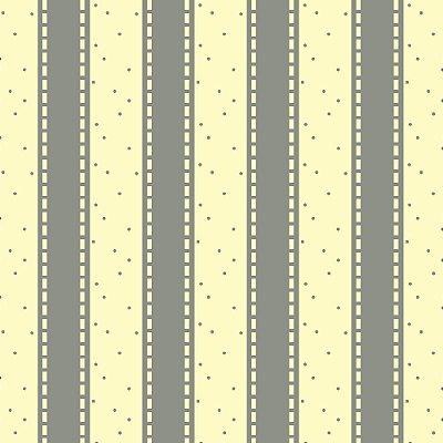 Tecido Tricoline Listrado Cinza no Creme -  Fundo com Poá Cinza - Coleção Folk Por Marias do Brasil - Corte Mínimo de 50 cm x 150cm