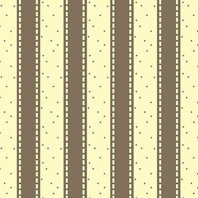 Tecido Tricoline Listrado Caramelo no Creme -  Fundo com Poá Caramelo - Coleção Folk Por Marias do Brasil - Corte Mínimo de 50 cm x 150cm