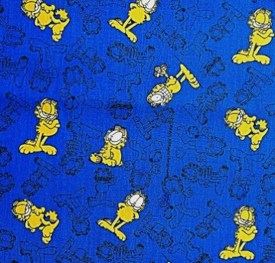 Tecido Estampado Garfield (Fundo Azul) - 50cm x 150cm