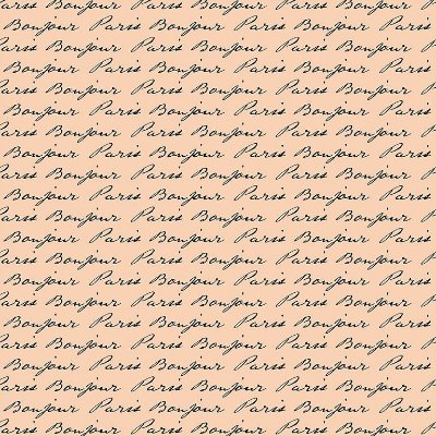 Tecido Tricoline Estampa Bonjour Paris (Fundo Rosa) - 50cm x 150cm