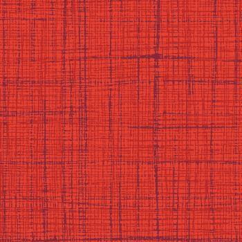 Tecido Tricoline Textura Riscada Vermelho Alaranjado - Coleção Neutro Tom Tom - Preço de 50 cm x 150 cm