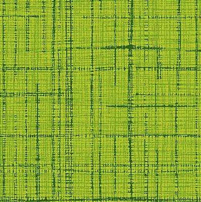 Tecido Tricoline Textura Riscada Verde Limão- Coleção Neutro Tom Tom (50 cm x 150cm)