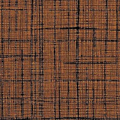 Tecido Tricoline Textura Riscada Marrom - Coleção Neutro Tom Tom - Preço de 50 cm x 150cm