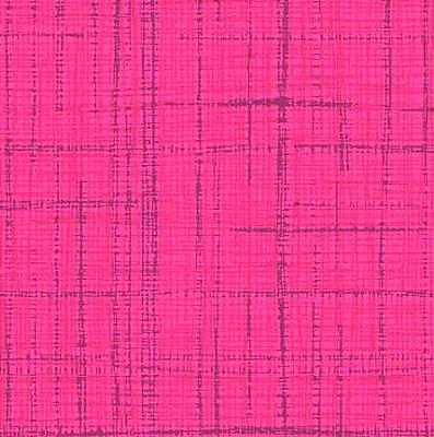 Tecido Tricoline Textura Riscada Rosa - Coleção Neutro Tom Tom (50 cm x 150cm)