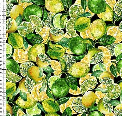 Tecido Digital - Estampa de Limão - 50cm x 150cm
