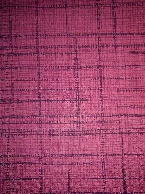 Tecido Tricoline Textura Riscada Rosa Escuro- Coleção Neutro Tom Tom - Preço de 50 cm x 150 cm
