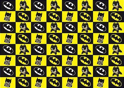 Tecido Estampa Exclusiva de Personagens - Batman em Quadros - 100% poliéster - Preço de 80cm x 60cm