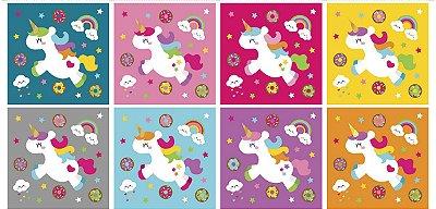 Tecido Digital - Painéis Almofadas Unicórnio Meia Tigela de Estampas Infantis - Preço de 70cm x 1m e 46cm
