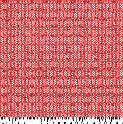 Tecido Tricoline Micro Poá Branco (Fundo Cor Telha) - Preço de 50 cm x 150cm