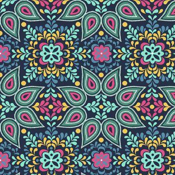 Tecido Tricoline Estampa Mandala - Coleção Novo México - Preço de 50 cm x 150 cm
