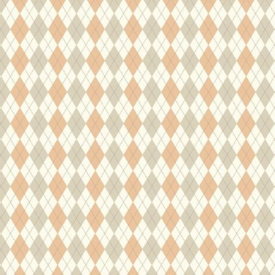 Tecido Triccoline Estampado Argile Marrom Claro e Pêssego (Salmão) - Coleção Anita Catita - Preço de 50cm x 150cm