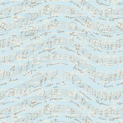 Tecido Tricoline Estampa Musique Ciel - Coleção Vive La France - Preço de 50 cm x 150 cm