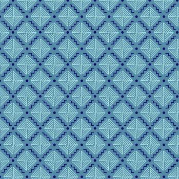 Tecido Tricoline com Estampa Listrada - Coleção Geométrico (Fundo Azul Claro) - Preço de 50cm x 150cm