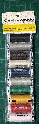Kit de Linha Costura tudo - Costuratex - Sortido - 10 cores