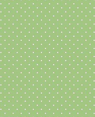 Tecido Tricoline  Estampa Micro Poá Branco Fundo Verde Pistache - Preço de 50 cm X 146 cm