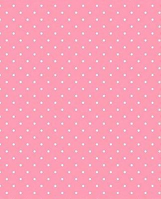 Tecido Tricoline  Estampa Micro Poá Branco Fundo Rosa Tutti Frutti - Preço de 50 cm X 146 cm