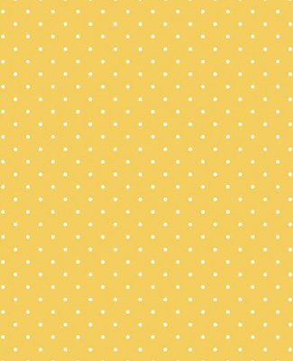 Tecido Tricoline Estampa Micro Poá Branco Fundo Amarelo Mostarda - Preço de 50 cm X 146 cm