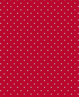Tecido Tricoline Estampa Micro Poá Branco Fundo Vermelho Paixão - Preço de 50 cm X 146 cm