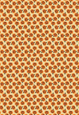 Tecido Tricoline Abóboras - Fundo Bege - Preço de 50cm x 146cm