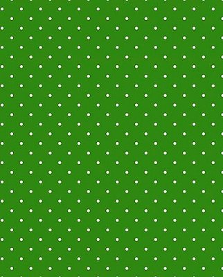 Tecido Tricoline Estampa Micro Poá Branco - Fundo Verde Escuro - Preço de 50 cm X 150 cm