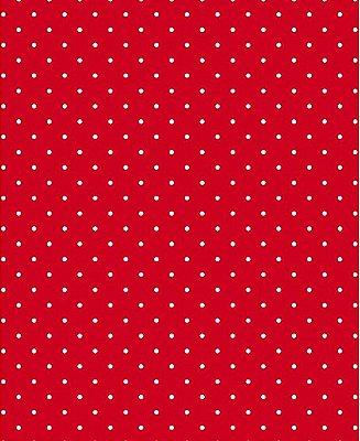 Tecido Tricoline Estampa Micro Poá Branco - Fundo Vermelho Queimado - Preço de 50 cm X 150 cm