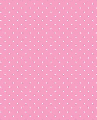 Tecido Tricoline Estampa Micro Poá Branco - Fundo Rosa Bebê - Preço de 50 cm X 150 cm