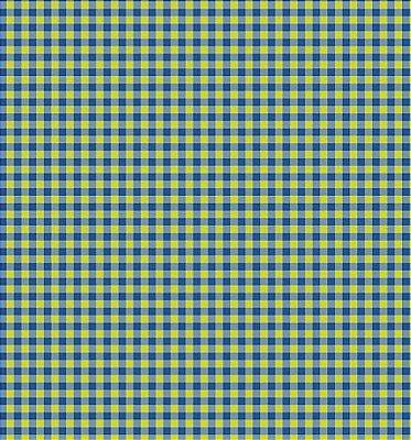 Tecido Tricoline Estampa Listrado em Azul e Verde Amarelado - 50 cm x 150 cm