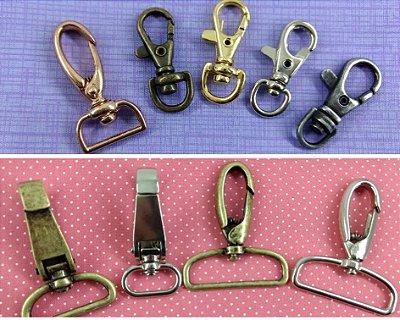 Mosquetão em Metal para Bolsas e Necessaires - Preço de 2 unidades