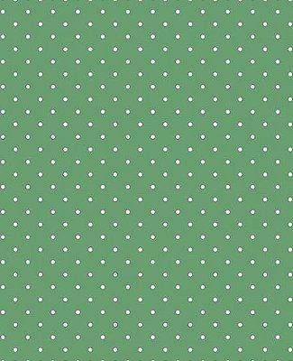 Tecido Tricoline Estampa Micro Poá Branco Fundo Verde Hortelã - Preço de 50 cm X 146 cm