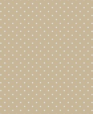 Tecido Tricoline Estampa Micro Poá Branco Fundo Camurça - Preço de 50 cm X 146 cm