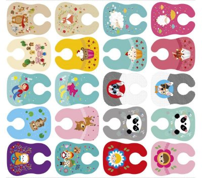 Tecido Digital - Babadores Meia Tigela de Estampas Infantis Clássicos 1 - Preço de 1m e 28cm x 1m e 46cm