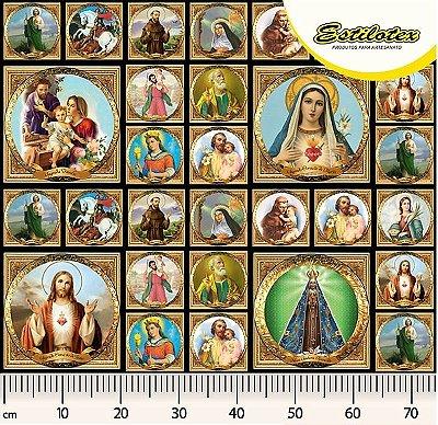 Tecido Digital Religioso de Santos - Preço de 57 cm x 140 cm