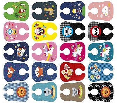 Tecido Digital - Babadores Meia Tigela de Estampas Infantis Clássicos 2 - Preço de 1m e 28cm x 1m e 46cm