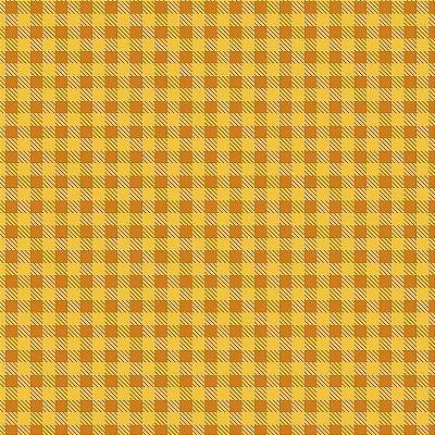 Tecido Tricoline Estampa Xadrez Mostarda - Preço de 50 cm x 150cm