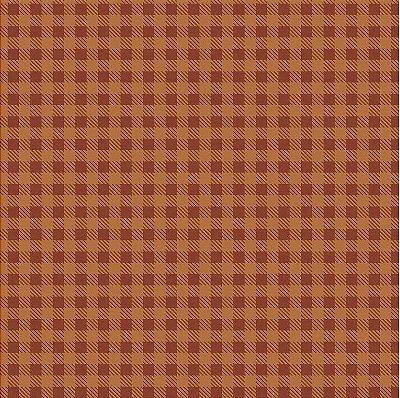 Tecido Tricoline Estampa Xadrez Café - Preço de 50 cm x 150cm