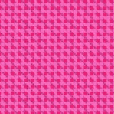 Tecido Tricoline Estampa Xadrez Rosa Pink - Preço de 50 cm x 150cm
