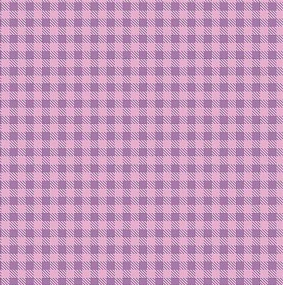 Tecido Tricoline Estampa Xadrez Lilás Lavanda - Preço de 50 cm x 150cm