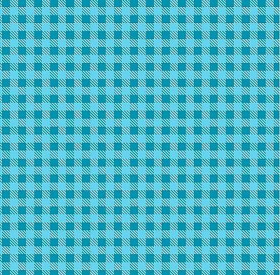 Tecido Tricoline Estampa Xadrez Azul Turquesa - Preço de 50 cm x 150cm