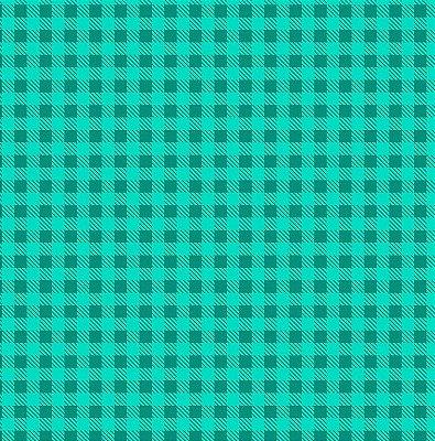 Tecido Tricoline Estampa Xadrez Verde Caribe - Preço de 50 cm x 150cm